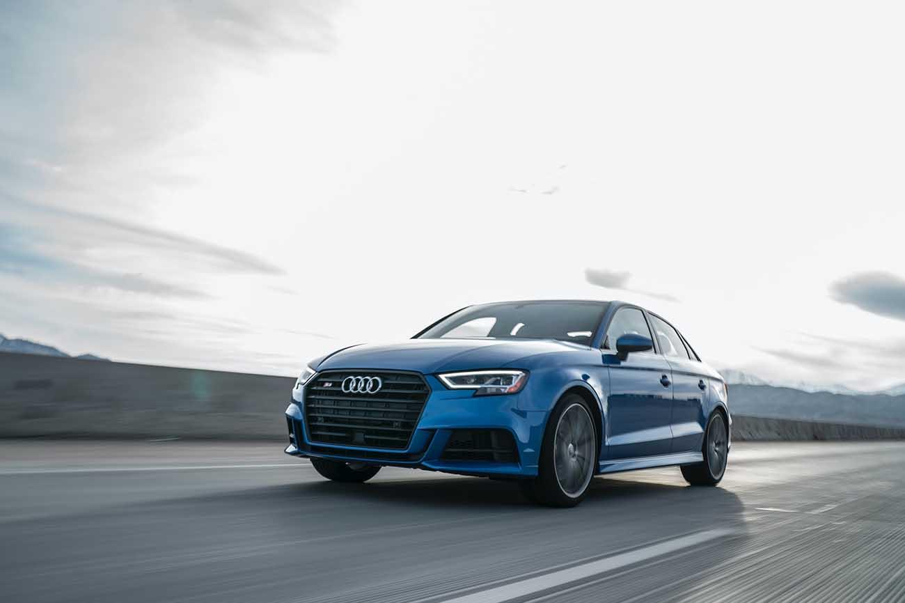 Blue Audi A4