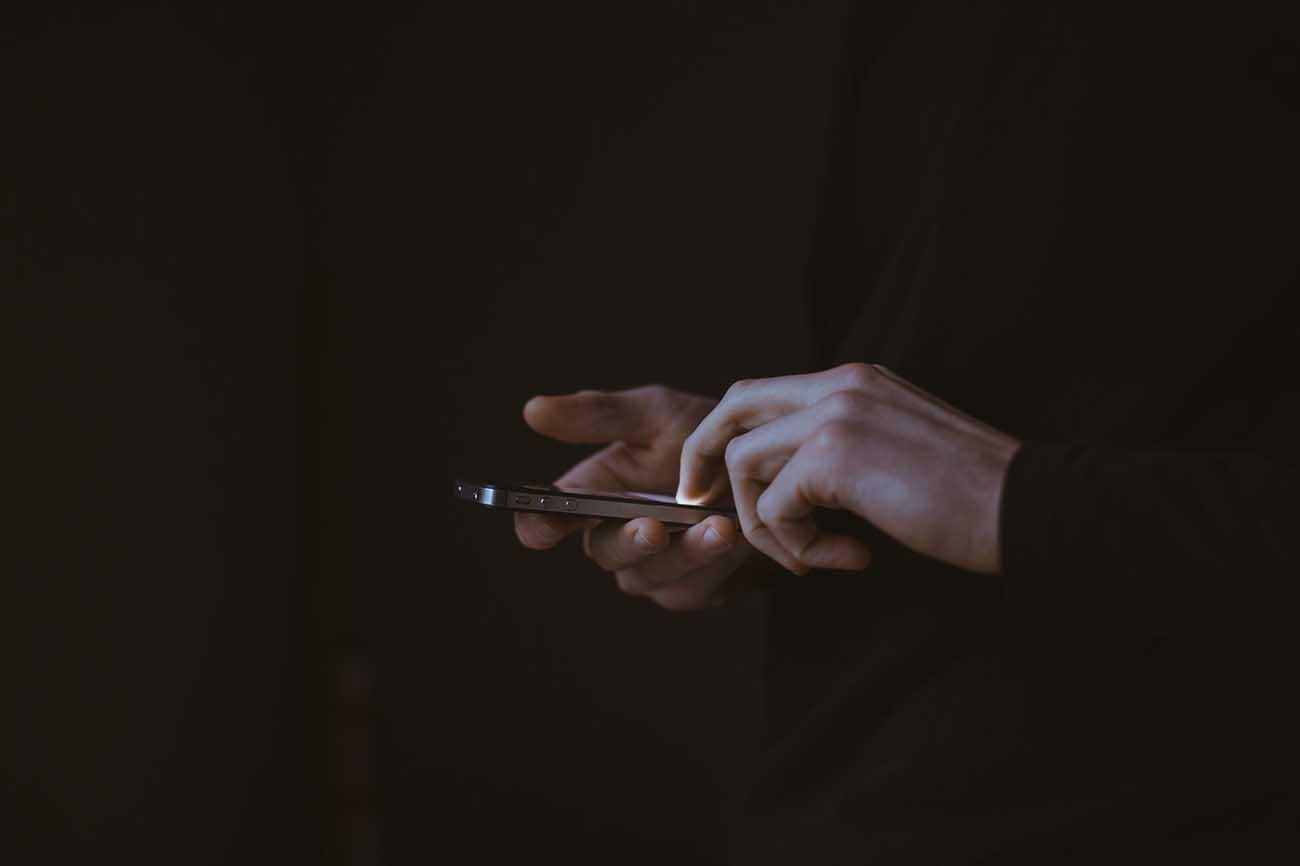smartphone black background