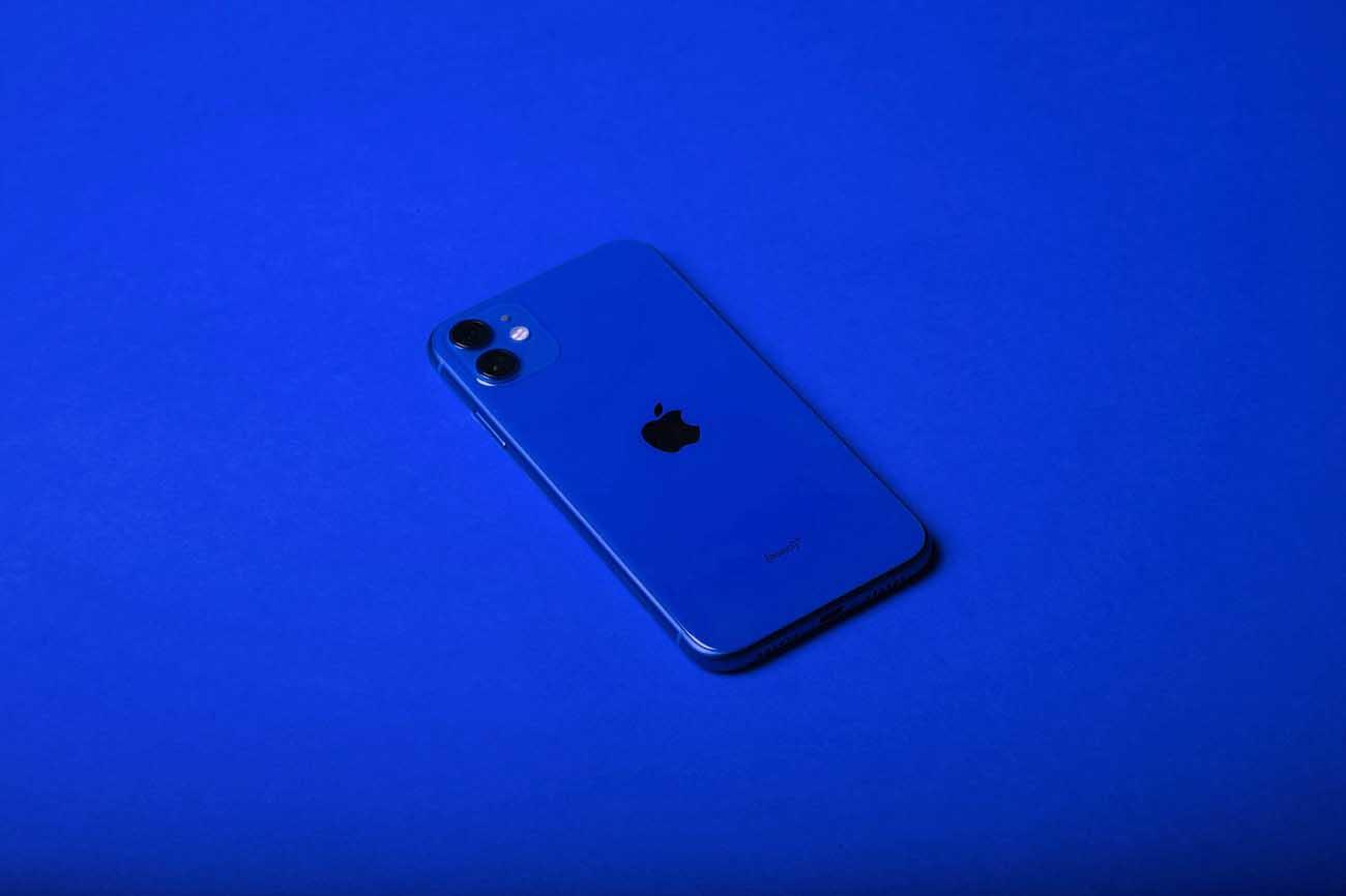 blue iPhone