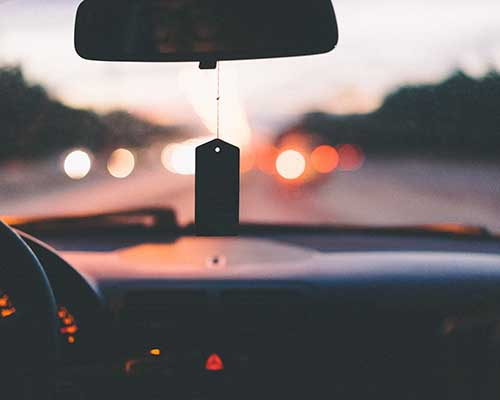 Dashboard at dusk