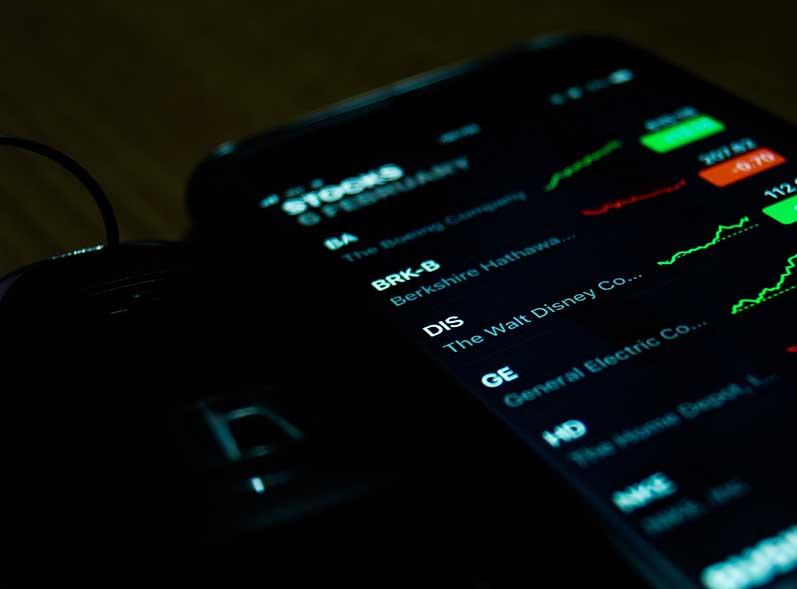 Stocks on iPhone